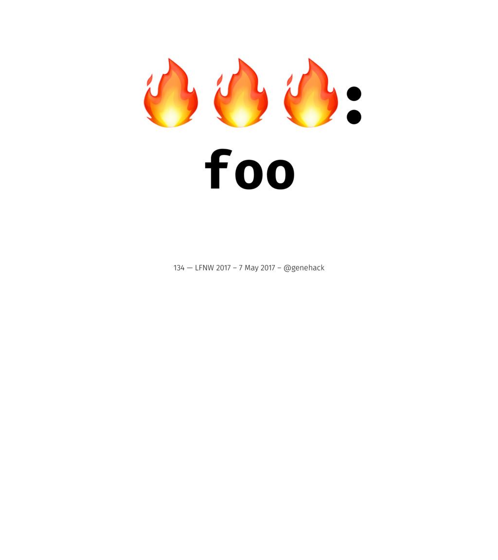 !!!: foo 134 — LFNW 2017 – 7 May 2017 – @geneha...