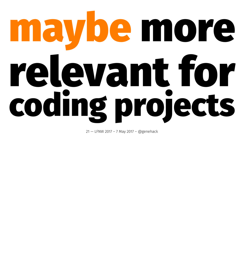 maybe more relevant for coding projects 21 — LF...