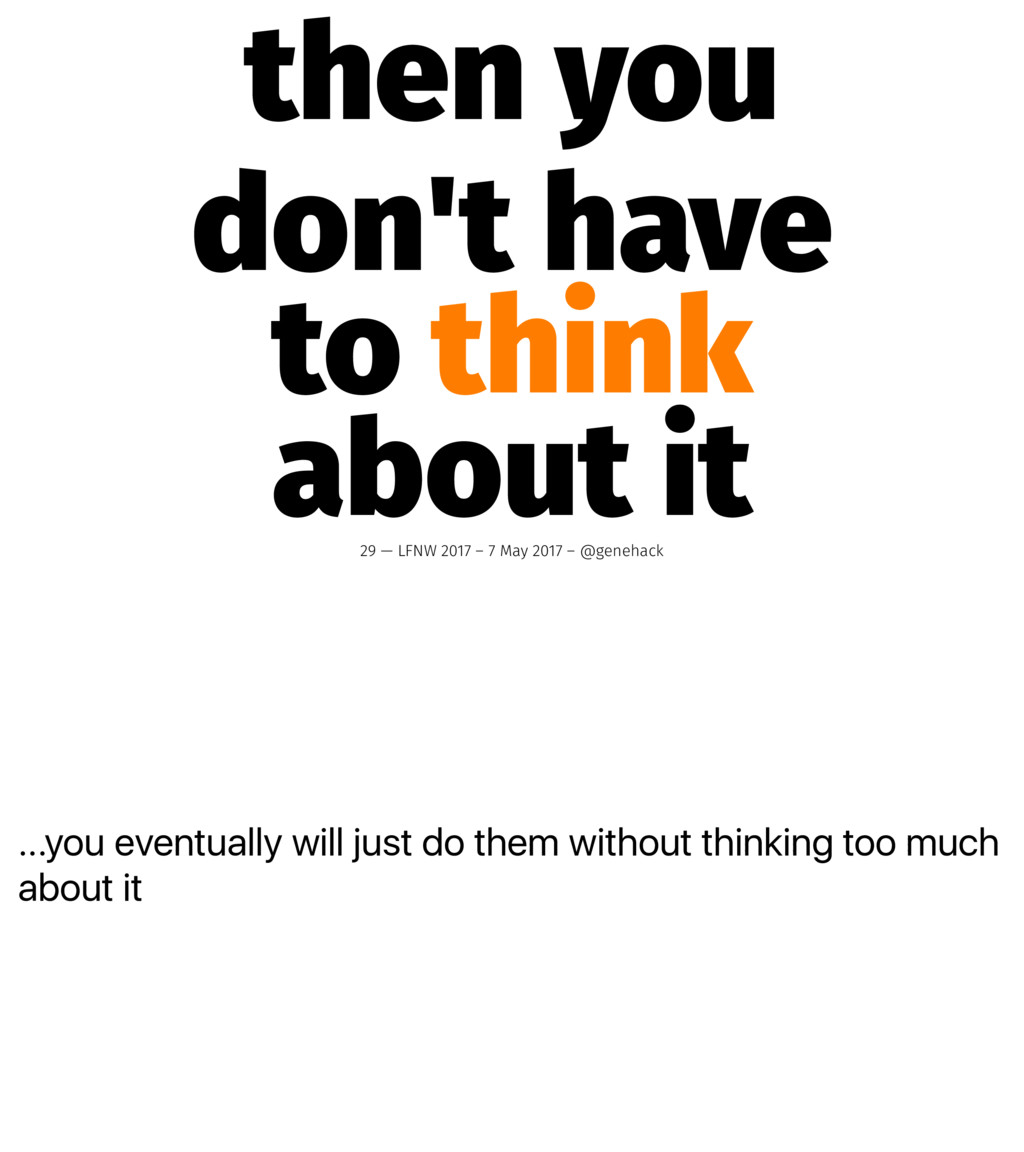 ...you eventually will just do them without thi...