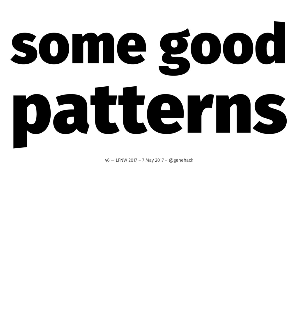 some good patterns 46 — LFNW 2017 – 7 May 2017 ...