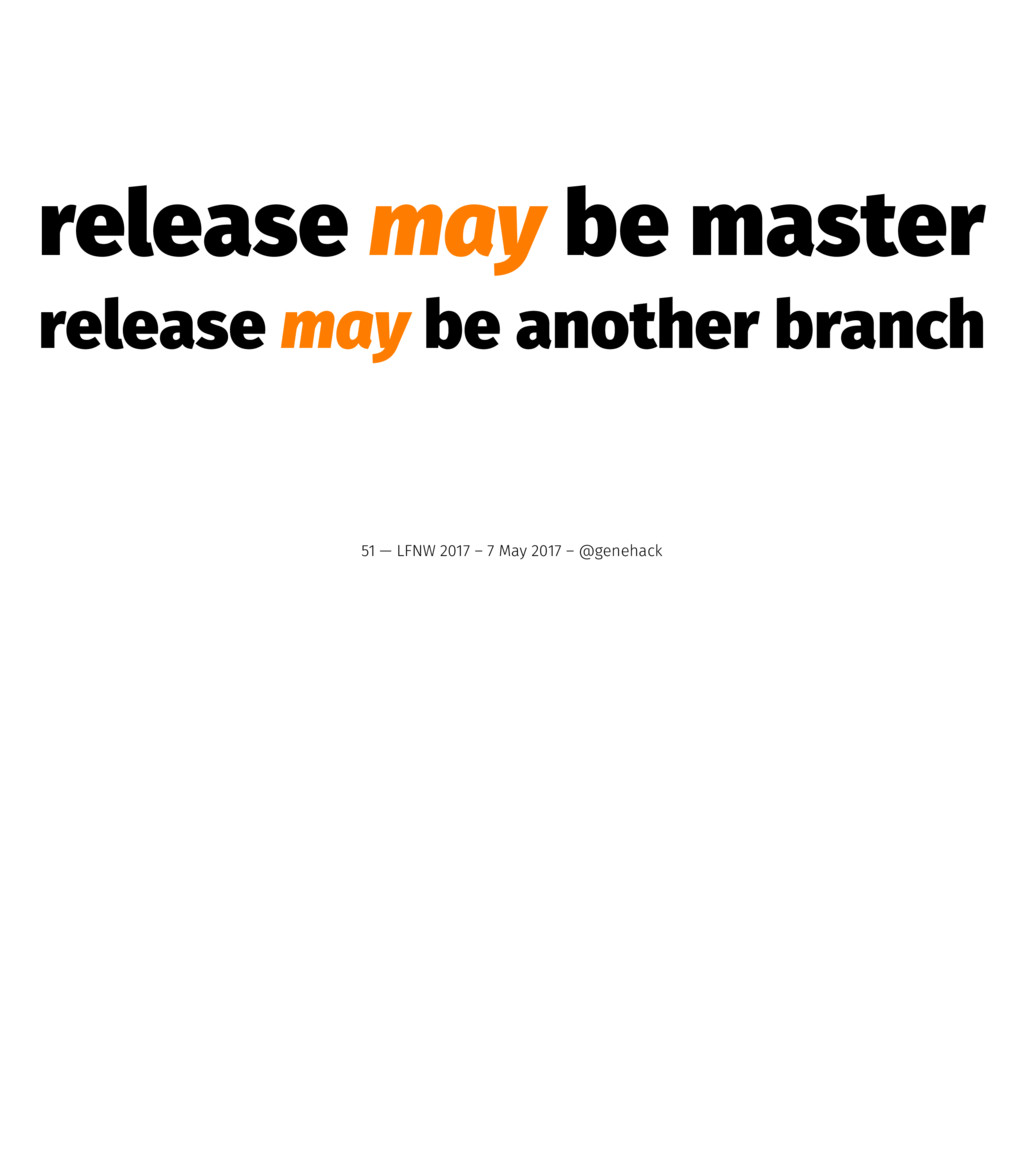 release may be master release may be another br...