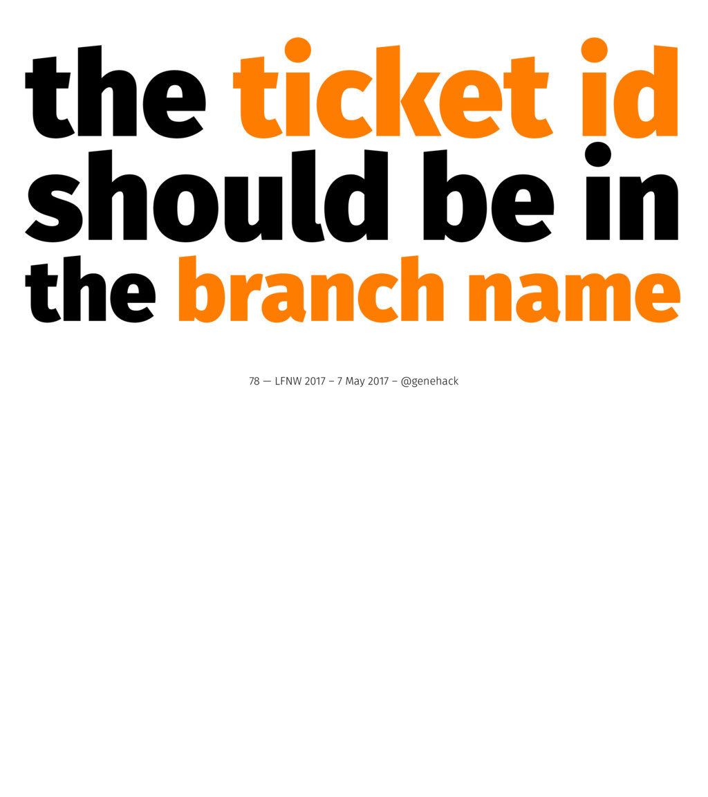 the ticket id should be in the branch name 78 —...
