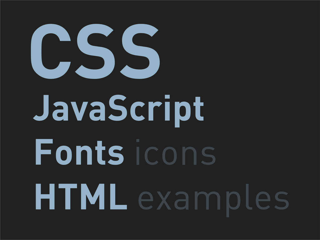 JavaScript Fonts icons HTML examples CSS