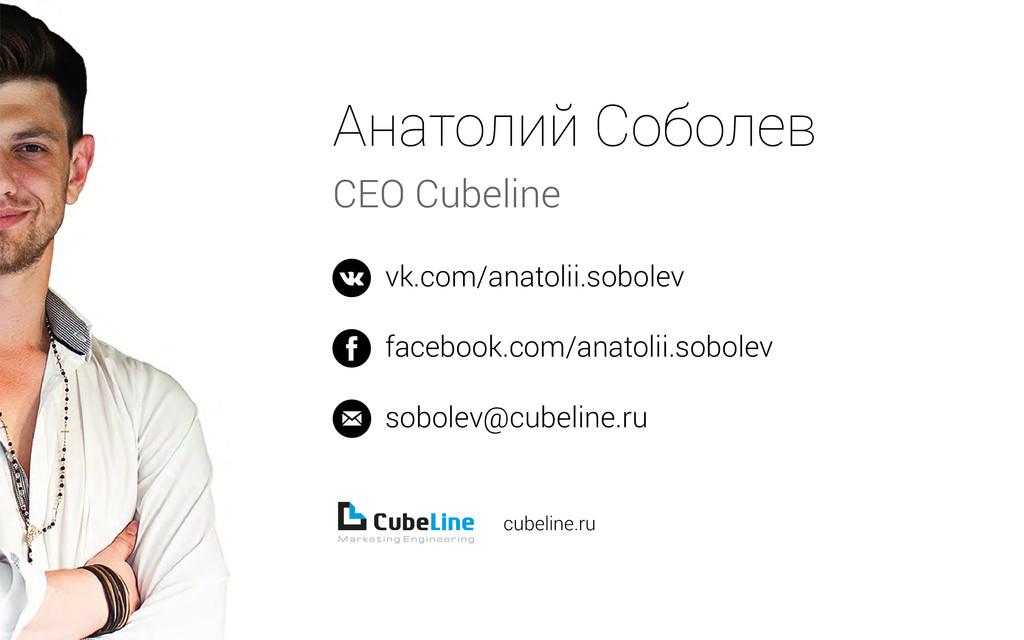 Анатолий Соболев CEO Cubeline vk.com/anatolii.s...