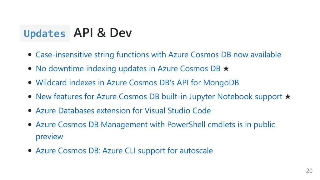 Updates API & Dev Case-insensitive string funct...