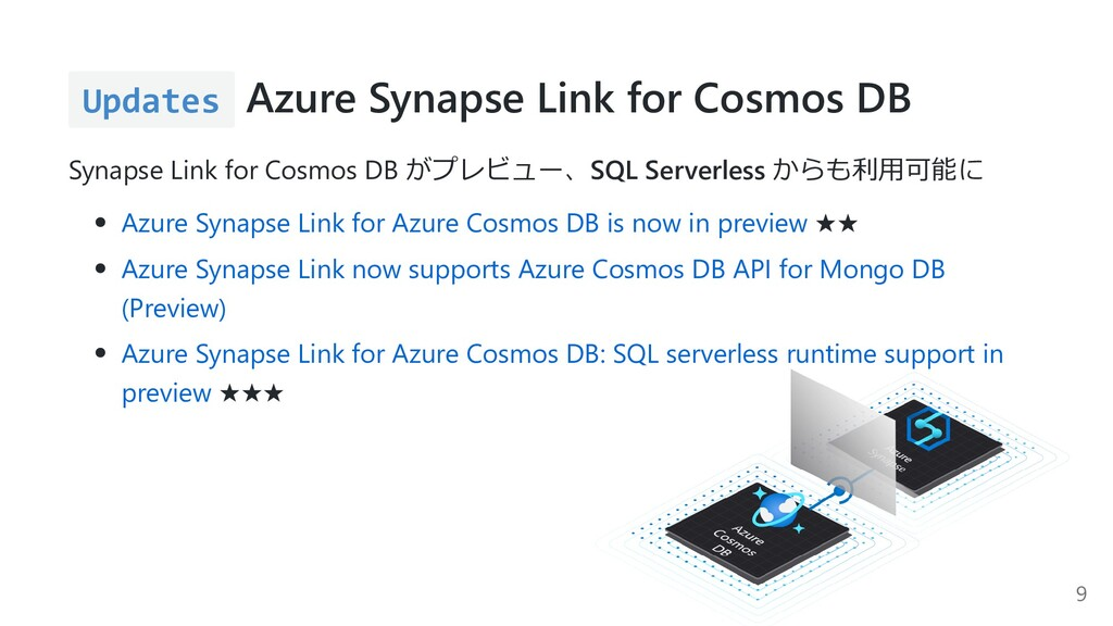 Updates Azure Synapse Link for Cosmos DB Synaps...