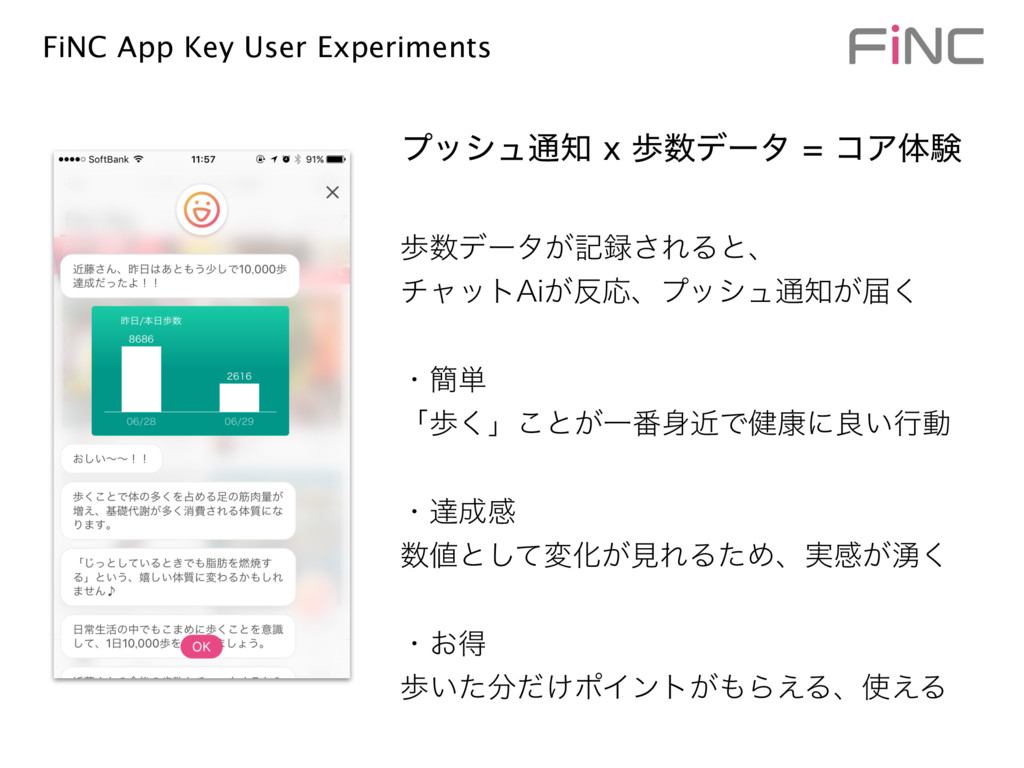 FiNC App Key User Experiments า਺σʔλ͕ه࿥͞ΕΔͱɺ νϟ...