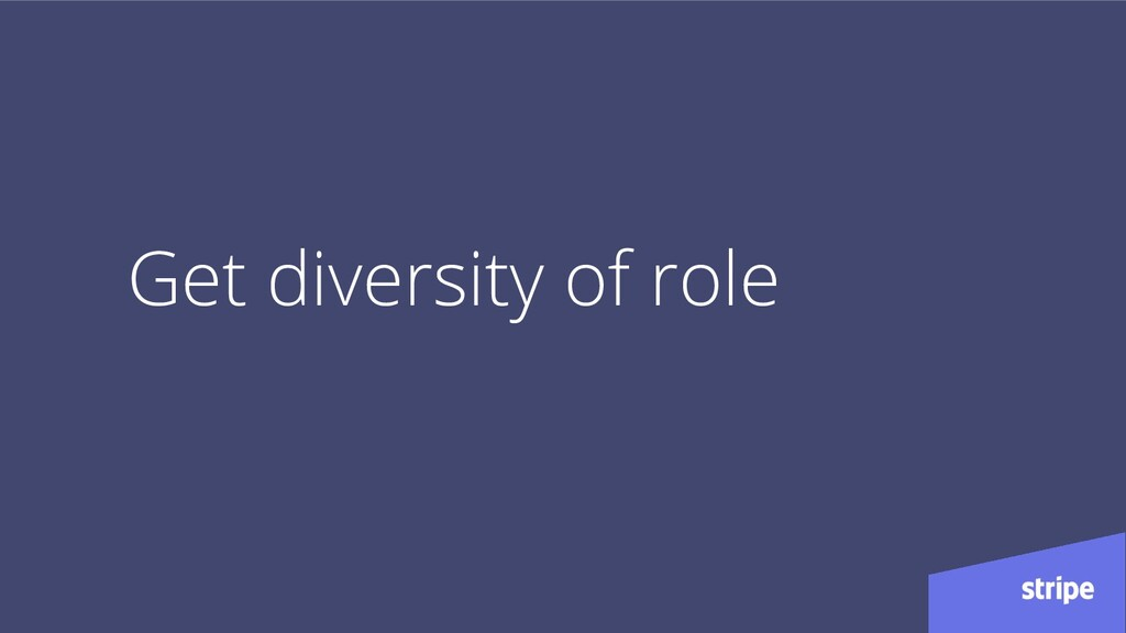 Get diversity of role