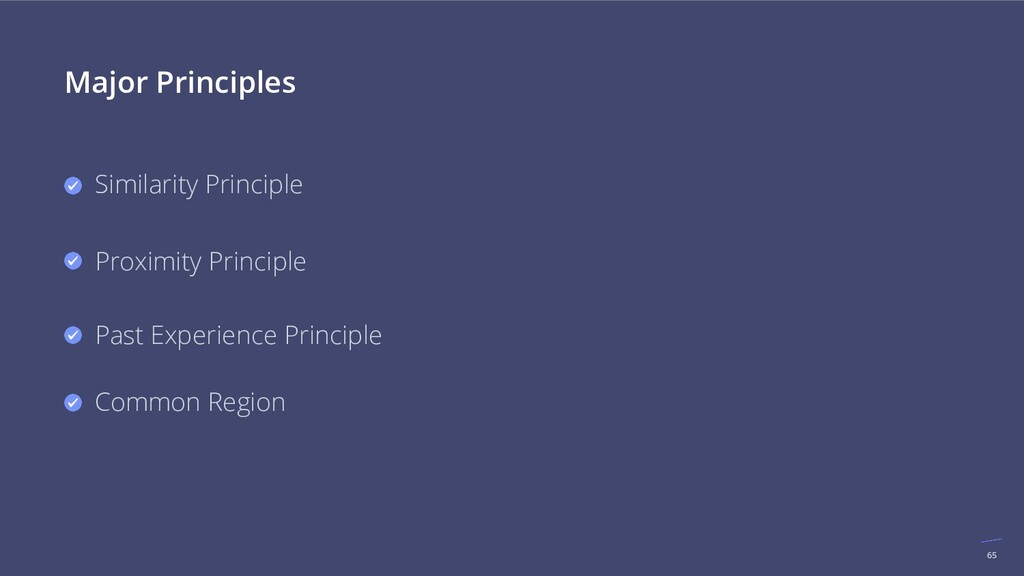 65 Major Principles Similarity Principle Proxim...