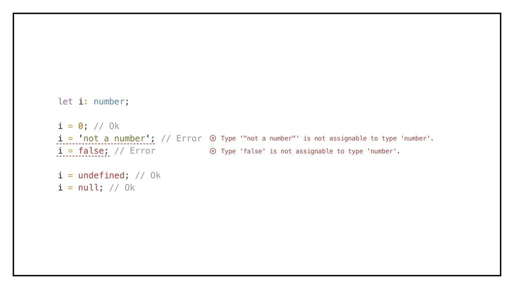 let i: number; i = 0; // Ok i = 'not a number';...