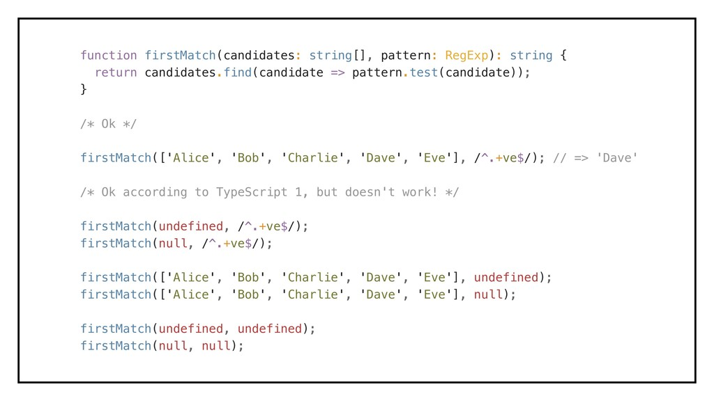 function firstMatch(candidates: string[], patte...