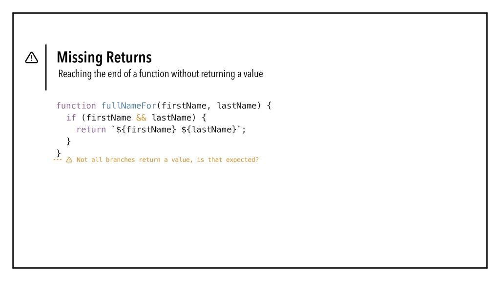 function fullNameFor(firstName, lastName) { if ...