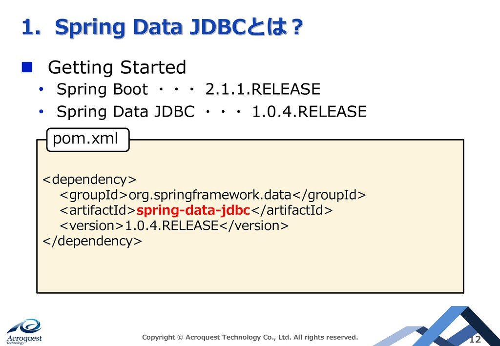 B 2 - - D C n Getting Started • Spring Boot 2.1...