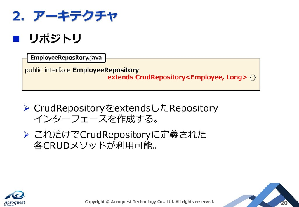 AC E n L L Ø CrudRepository extends Repository ...