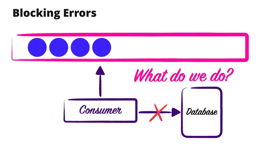 Blocking Errors Database Consumer What do we do?