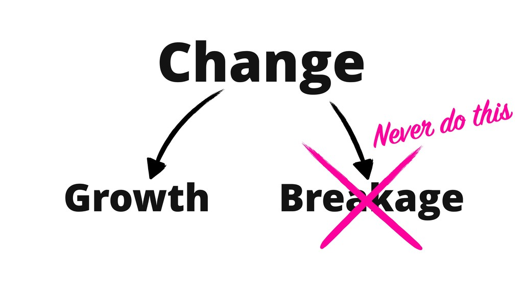 Change Growth Breakage Never do this