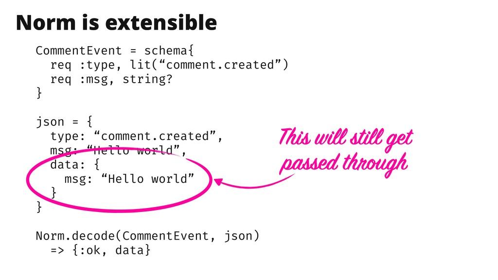 """CommentEvent = schema{ req :type, lit(""""comment...."""