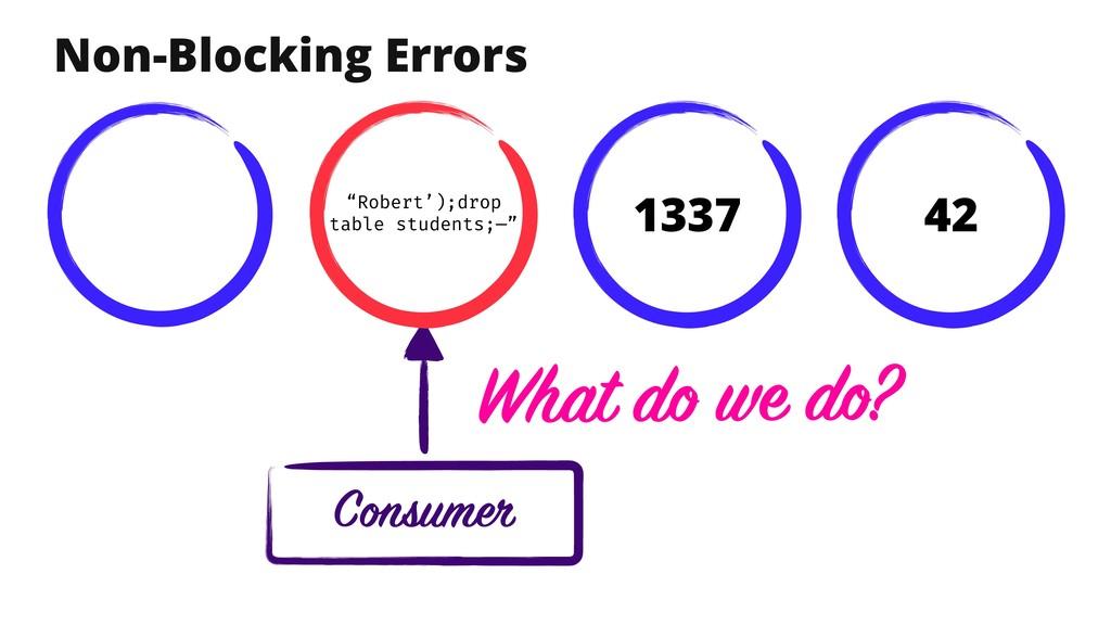 "Non-Blocking Errors Consumer 42 1337 ""Robert');..."