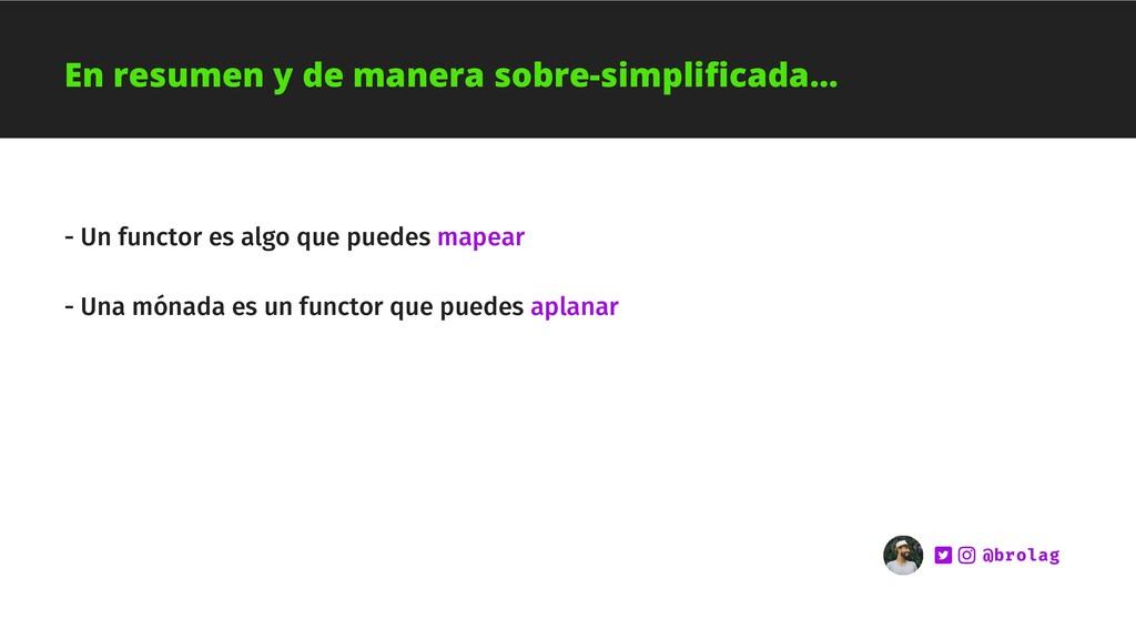 - Un functor es algo que puedes mapear - Una mó...