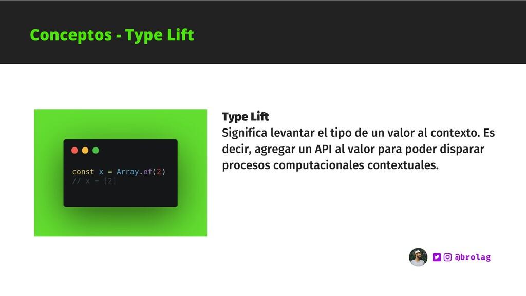 Type Lift Significa levantar el tipo de un valo...
