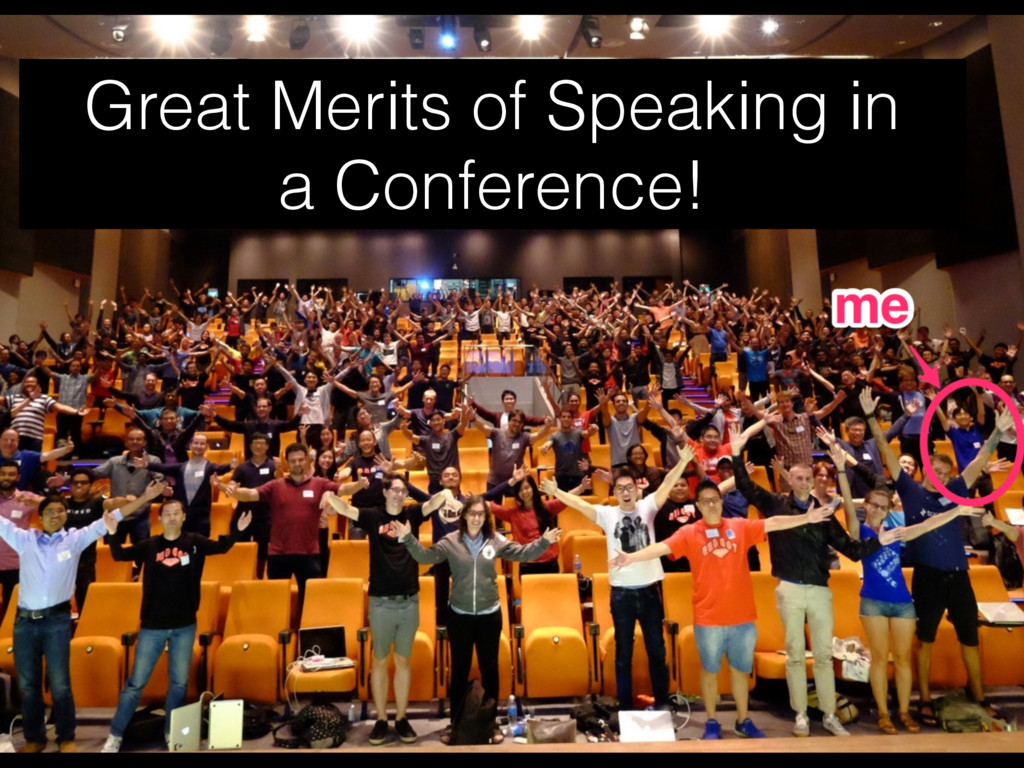 Great Merits of Speaking in  a Conference!