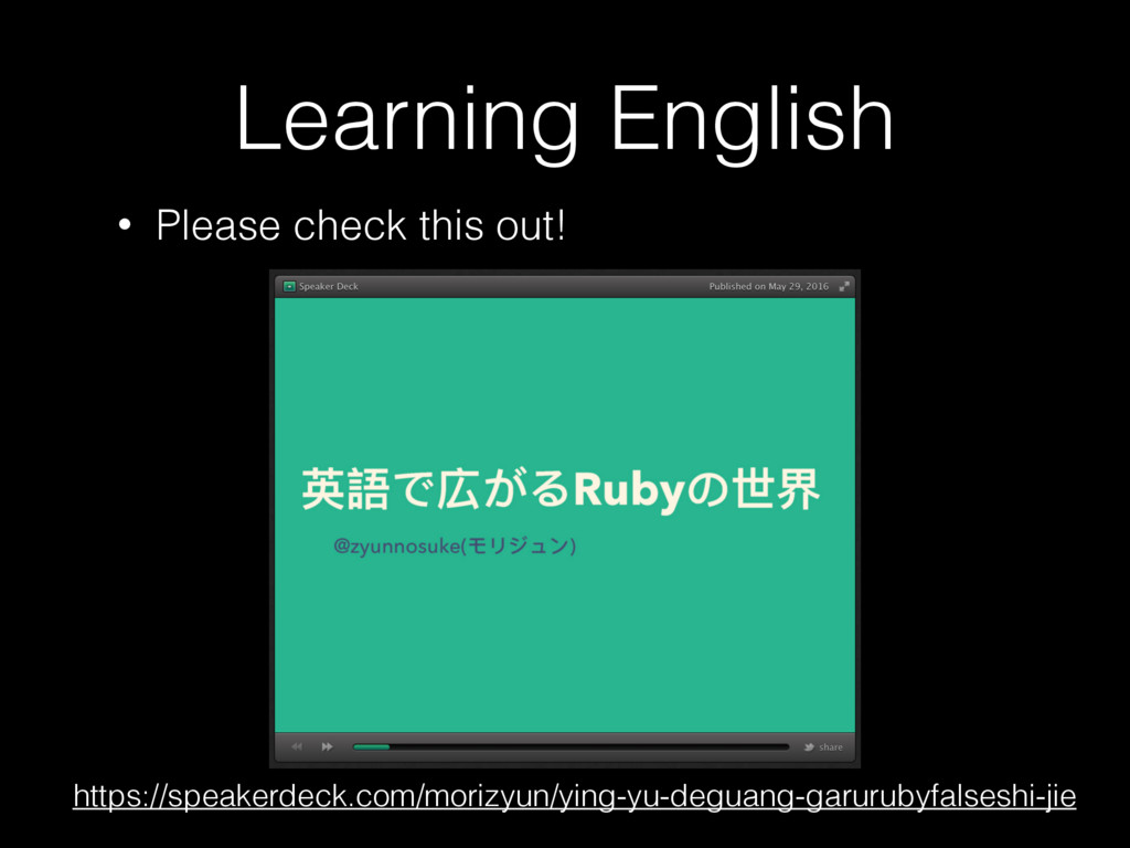 Learning English • Please check this out! https...