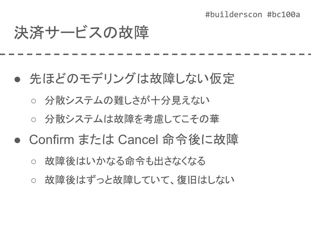 #builderscon #bc100a 決済サービスの故障 ● 先ほどのモデリングは故障しな...