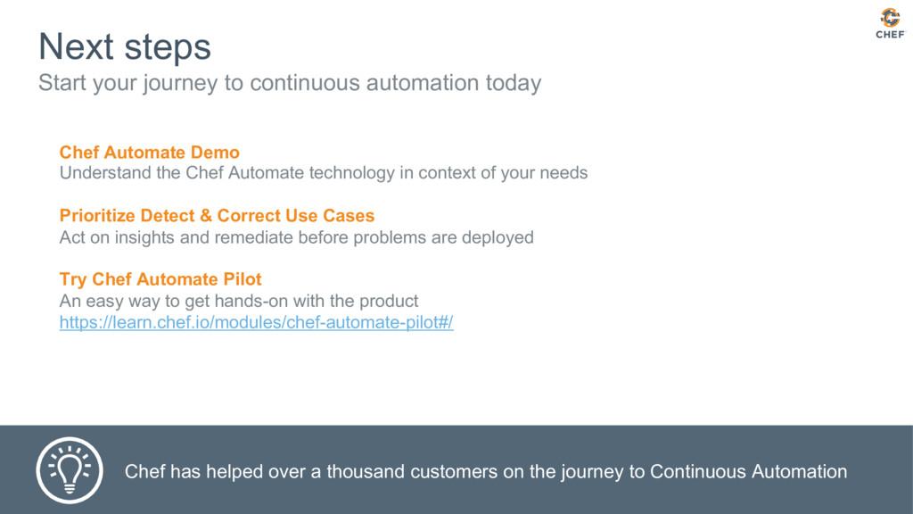 Next steps Start your journey to continuous aut...