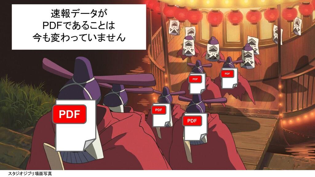 スタジオジブリ場面写真 速報データが PDFであることは 今も変わっていません PDF PDF...
