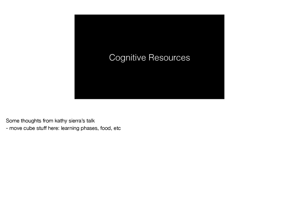 Cognitive Resources Some thoughts from kathy si...