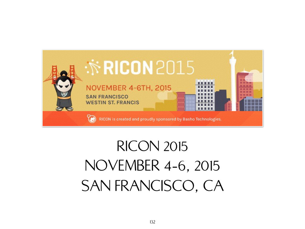 NOVEMBER 4-6, 2015 SAN FRANCISCO, CA RICON 2015...
