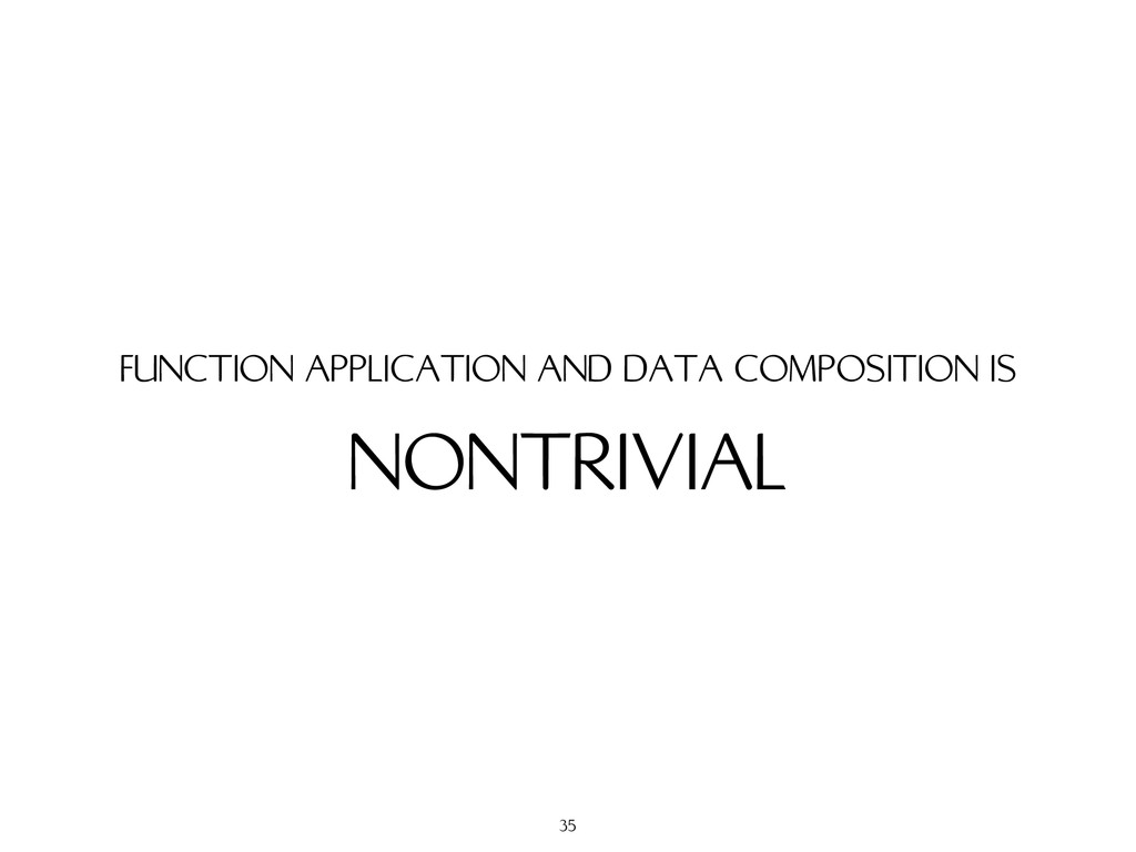 NONTRIVIAL FUNCTION APPLICATION AND DATA COMPOS...