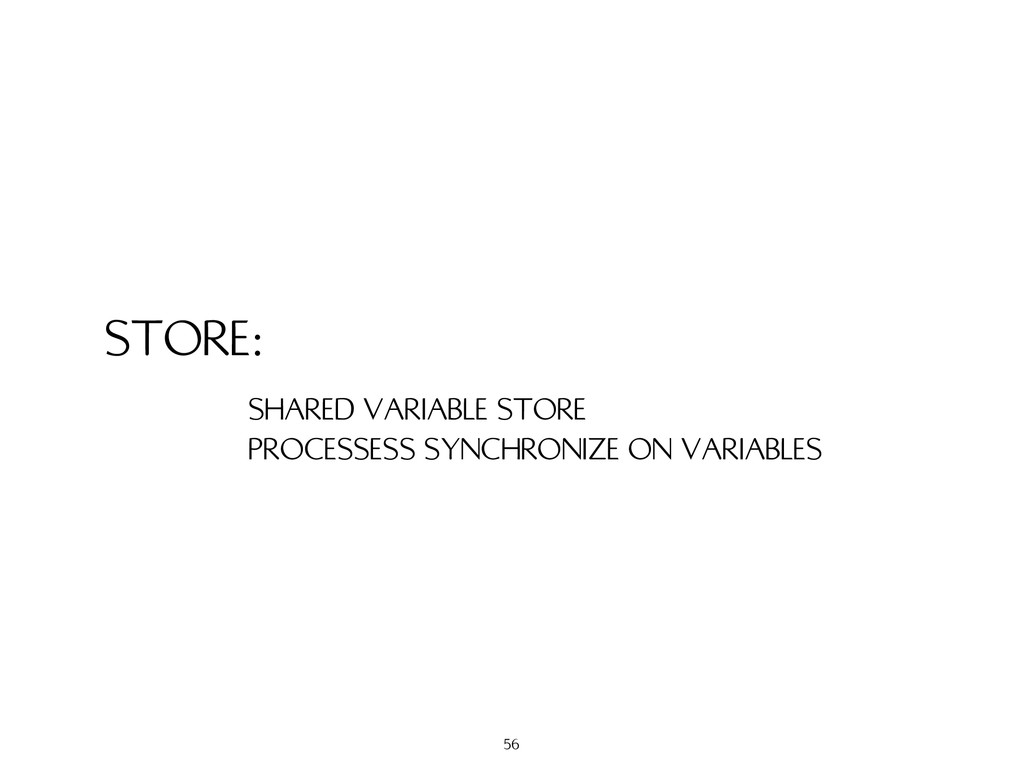 STORE: SHARED VARIABLE STORE PROCESSESS SYNCHRO...