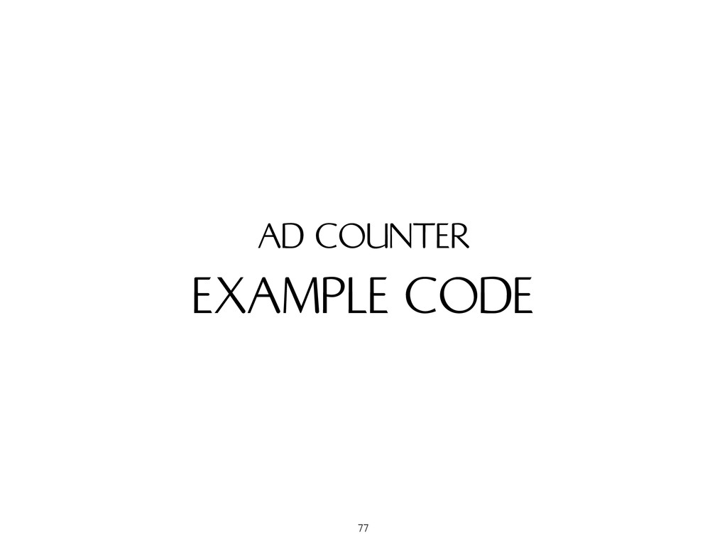 EXAMPLE CODE AD COUNTER 77