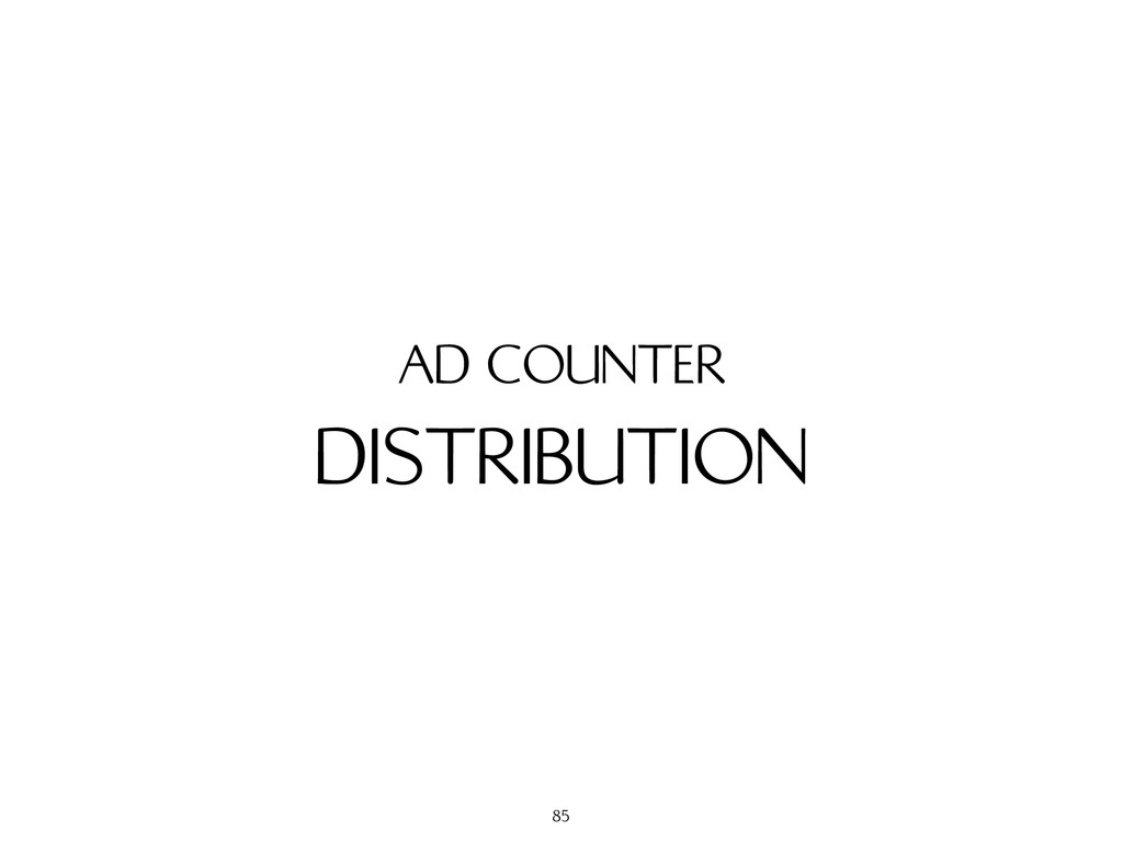 DISTRIBUTION AD COUNTER 85