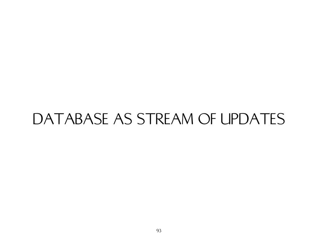DATABASE AS STREAM OF UPDATES 93