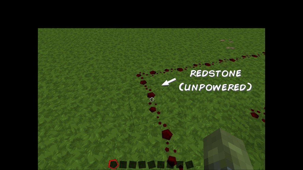 redstone (unpowered)