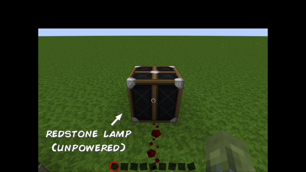 redstone lamp (unpowered)
