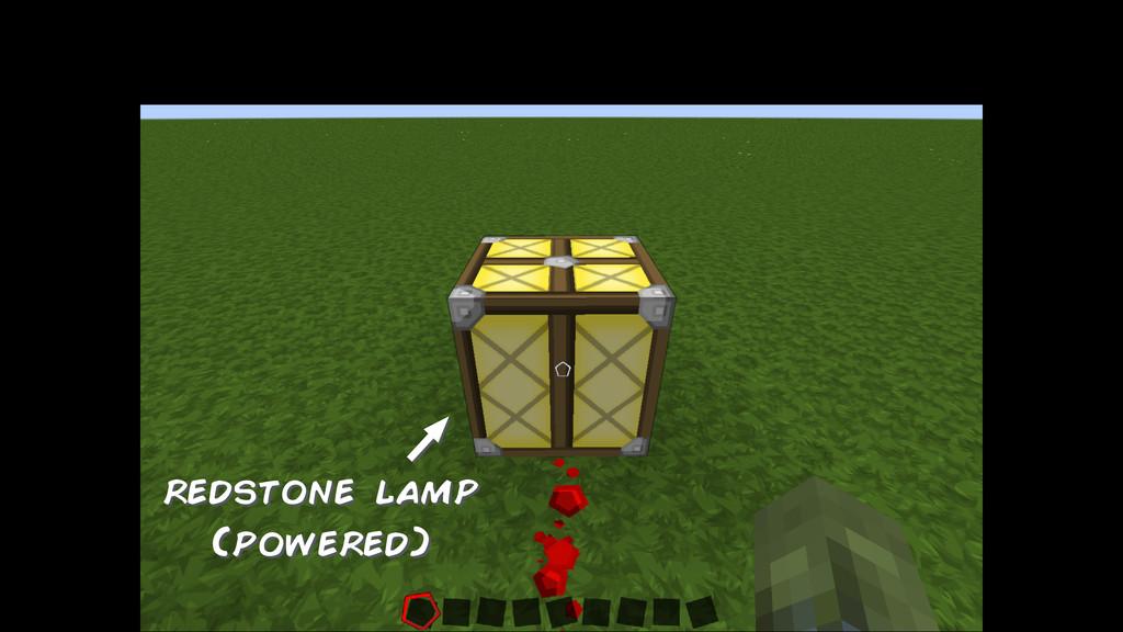 redstone lamp (powered)