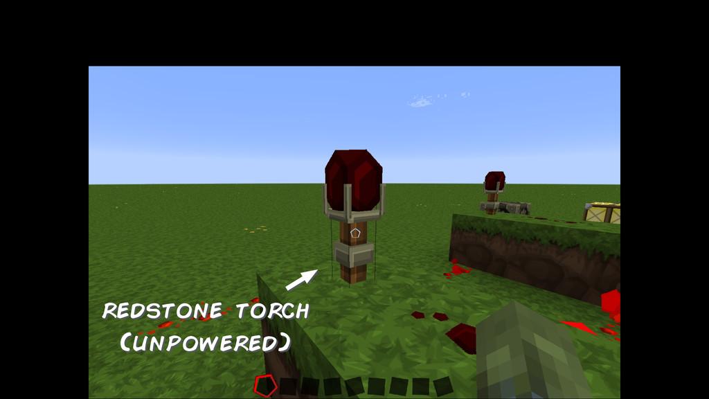 redstone torch (unpowered)