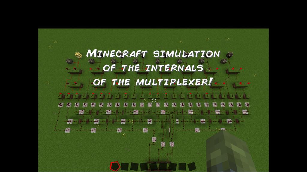 Minecraft simulation of the internals of the mu...