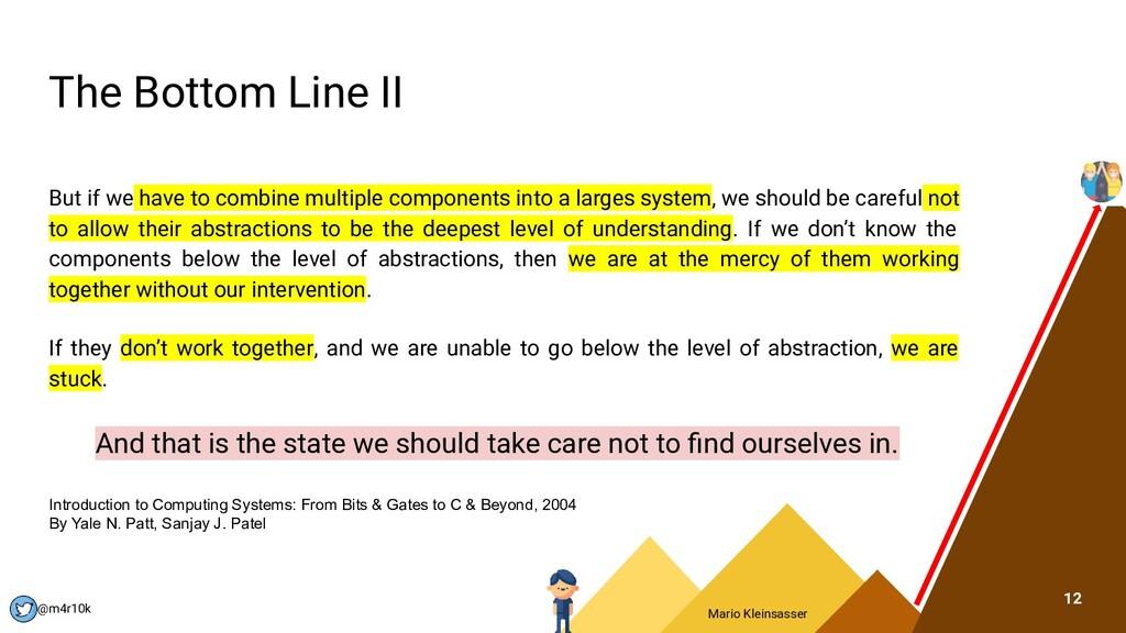 Mario Kleinsasser @m4r10k The Bottom Line II Bu...
