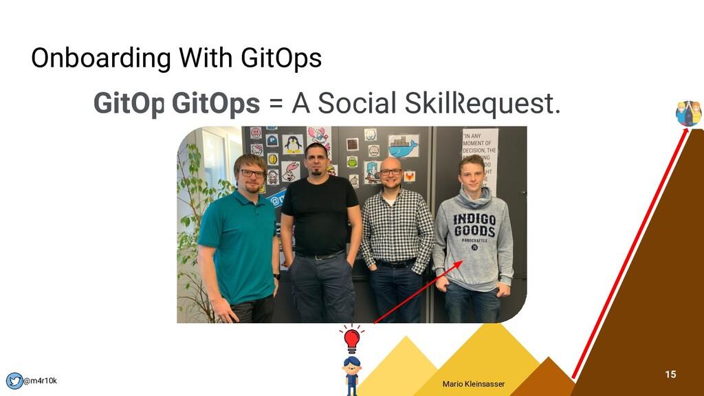 Mario Kleinsasser @m4r10k Onboarding With GitOp...
