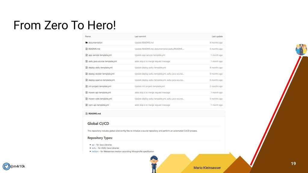 Mario Kleinsasser @m4r10k From Zero To Hero! 19