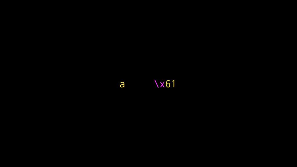 a \x61
