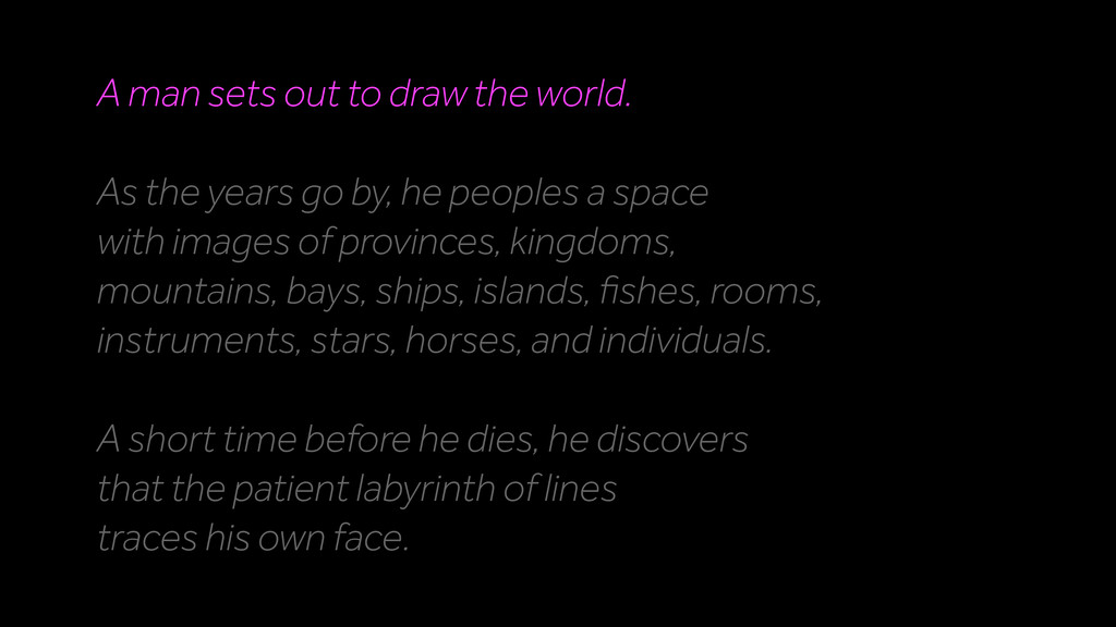 A man sets out to draw the world. As the years ...