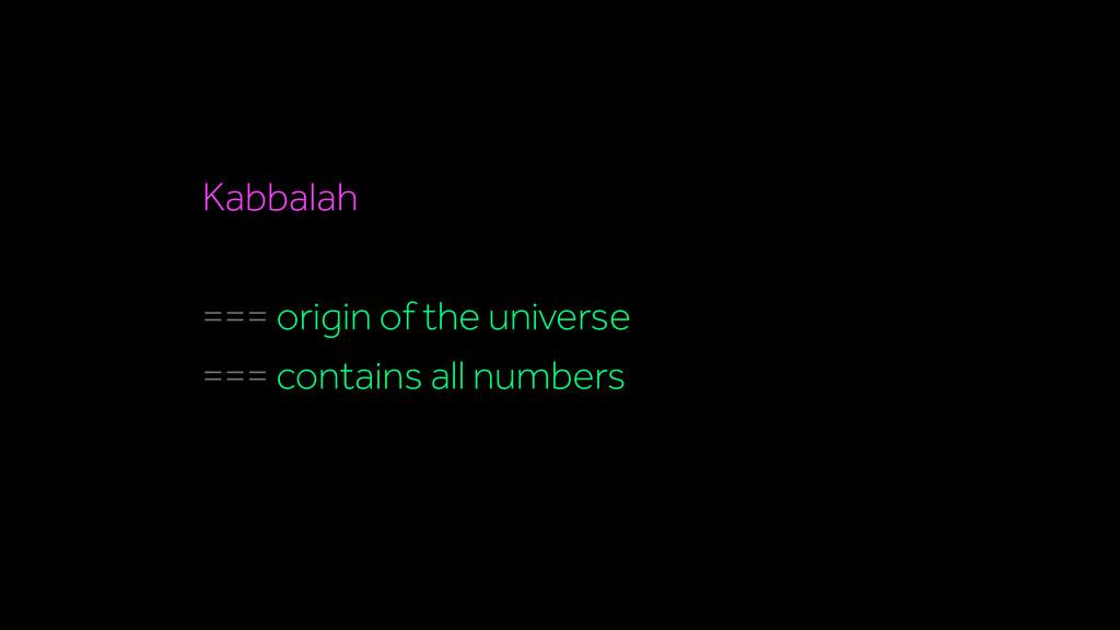 Kabbalah === origin of the universe === contain...