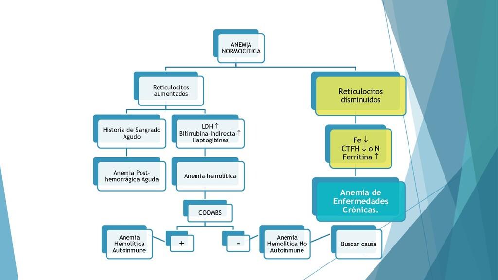 43 ANEMIA NORMOCÍTICA Reticulocitos aumentados ...