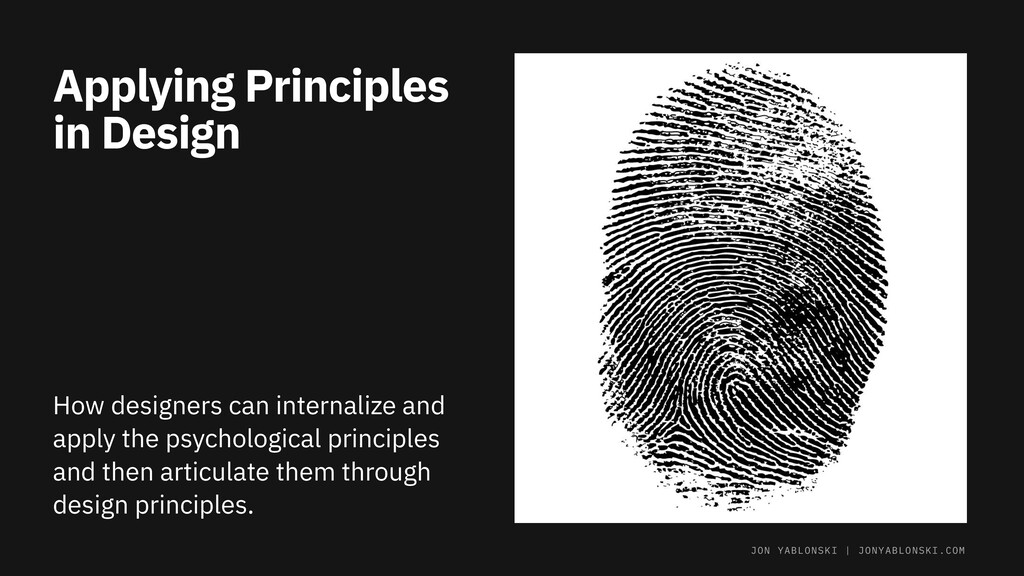 Applying Principles in Design How designers can...