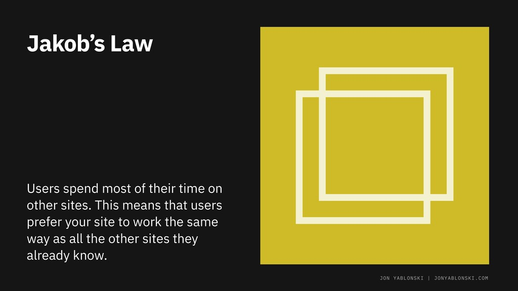 Jakob's Law Users spend most of their time on o...